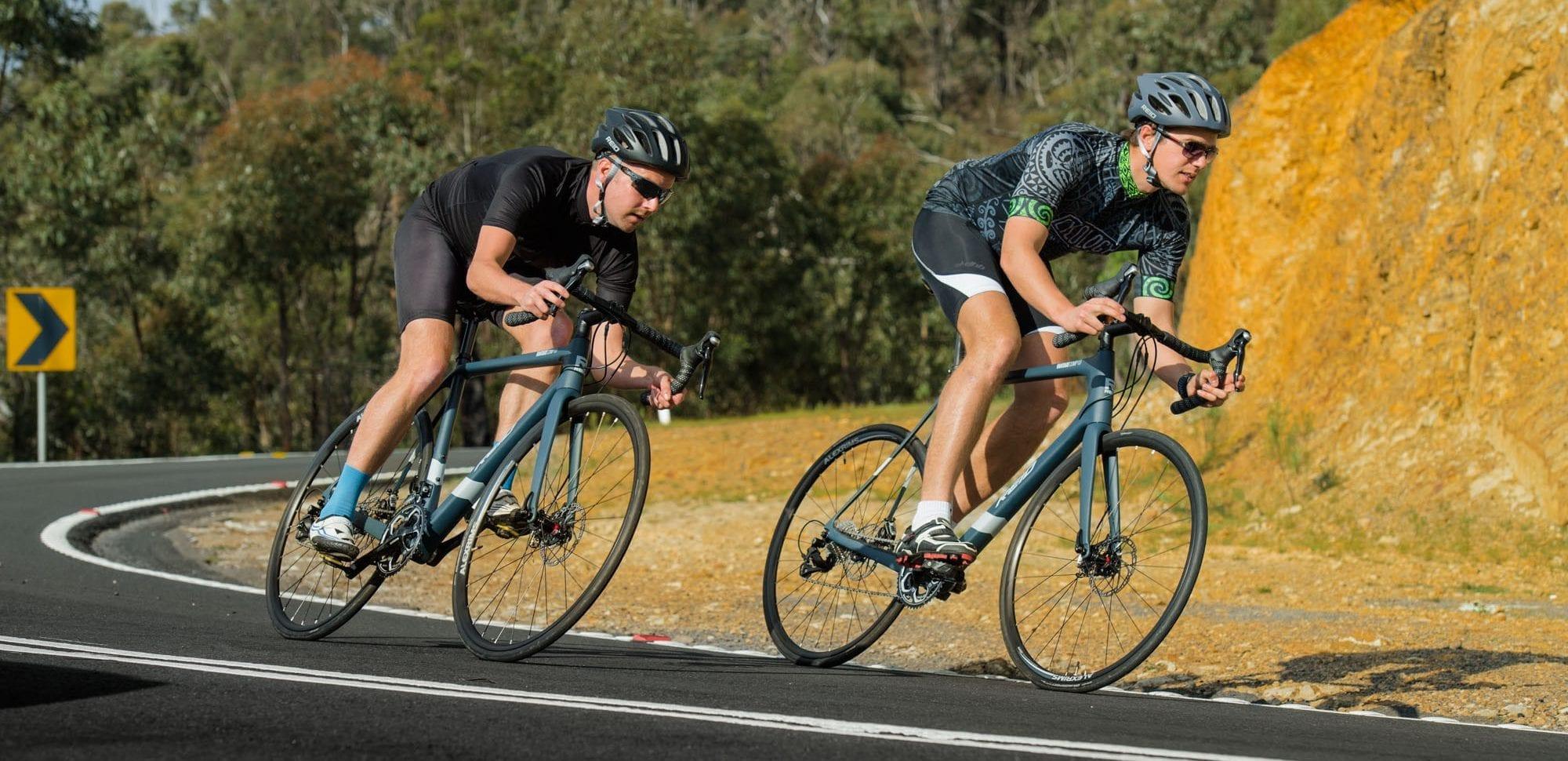 2 Reid road bikes bending