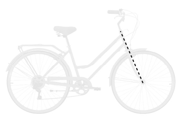 base bike FORK LENGTH FULL - Reid ® - Ladies Classic 7-Speed Bike