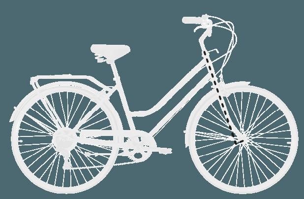 base bike FORK RAKE OFFSET - Reid ® - Ladies Classic 7-Speed Bike