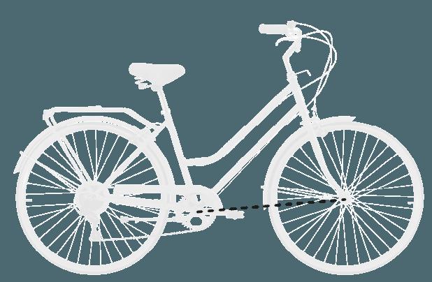 base bike FRONT CENTER - Reid ® - Ladies Classic 7-Speed Bike