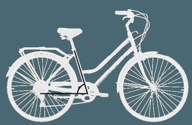 base bike SEAT TUBE ANGLE - Reid ® - Ladies Classic 7-Speed Bike