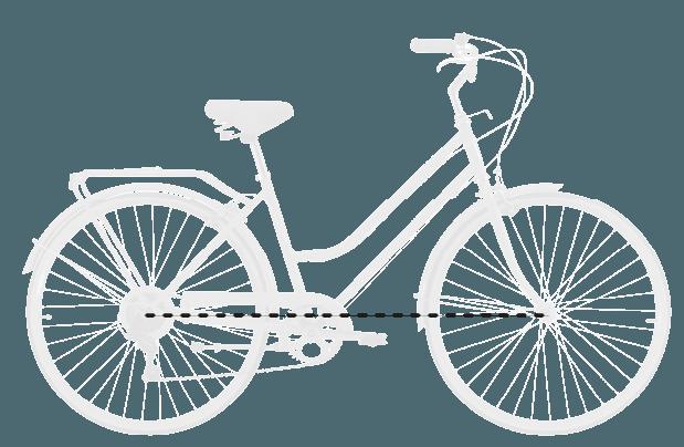 base bike WHEELBASE - Reid ® - Ladies Classic 7-Speed Bike