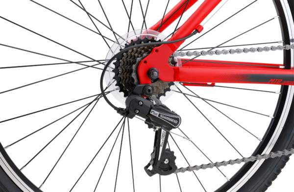 MTB Sport Red with 21-speed gearing