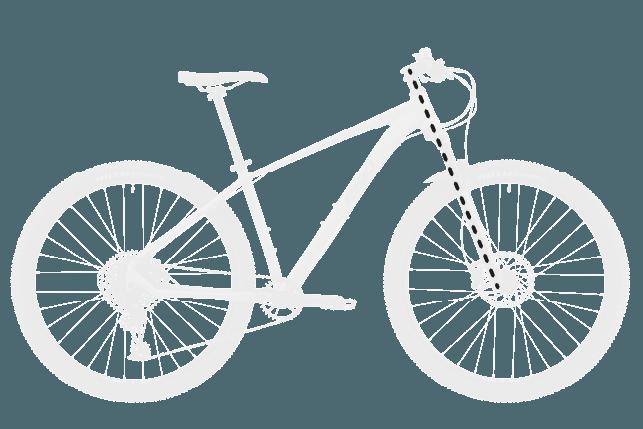 base bike FORK LENGTH FULL 2 - Reid ® - MTB Pro Disc Bike