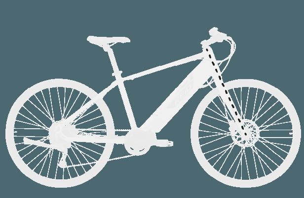 base bike FORK LENGTH FULL 4 - Reid ® - Blacktop 1.0 Step Thru eBike