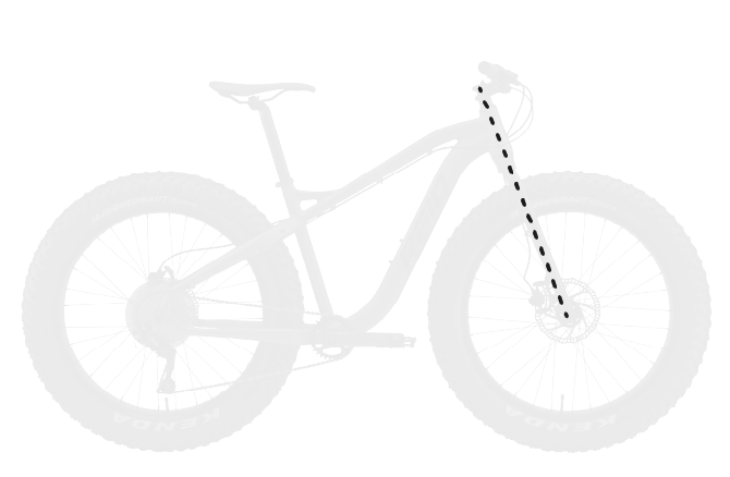 base bike FORK LENGTH FULL - Reid ® - Vice 2.0 Bike