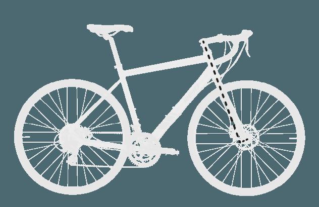 base bike FORK RAKE OFFSET 1 - Reid ® - Granite 1.0 Bike