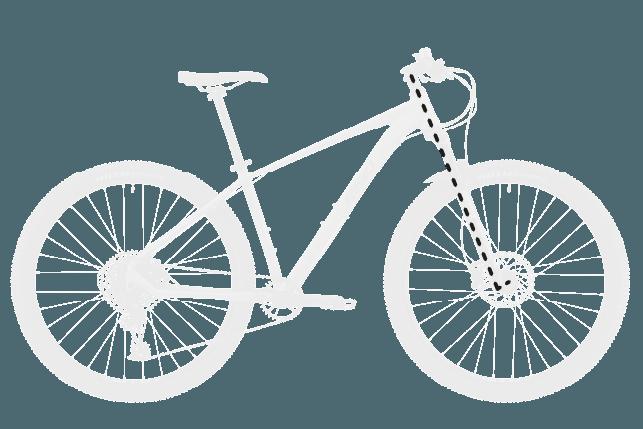 base bike FORK RAKE OFFSET 2 - Reid ® - MTB Pro Disc Bike