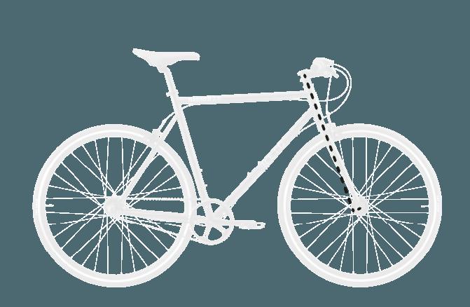 base bike FORK RAKE OFFSET 3 - Reid ® - BLVD Bike
