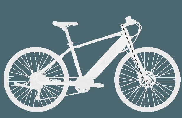 base bike FORK RAKE OFFSET 4 - Reid ® - Blacktop 1.0 Step Thru eBike