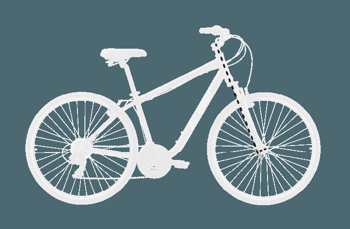 base bike FORK RAKE OFFSET 9 - Reid ® - Transit Disc Bike
