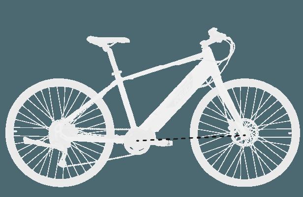 base bike FRONT CENTER 4 - Reid ® - Blacktop 1.0 Step Thru eBike