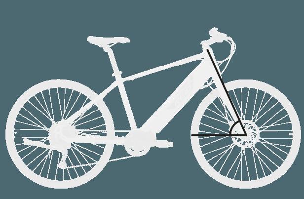 base bike HEAD TUBE ANGLE 4 - Reid ® - Blacktop 1.0 Step Thru eBike