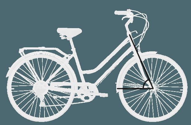 base bike HEAD TUBE ANGLE 8 - Reid ® - Gents Roadster Bike