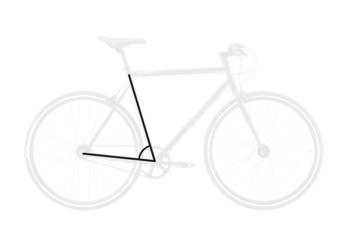 base bike SEAT TUBE ANGLE 3 - Reid ® - BLVD Bike