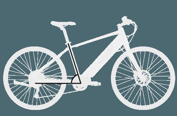base bike SEAT TUBE ANGLE 4 - Reid ® - Blacktop 1.0 Step Thru eBike