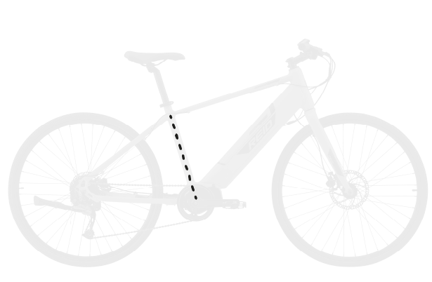 base bike SEAT TUBE LENGTH 4 - Reid ® - Blacktop 1.0 Step Thru eBike